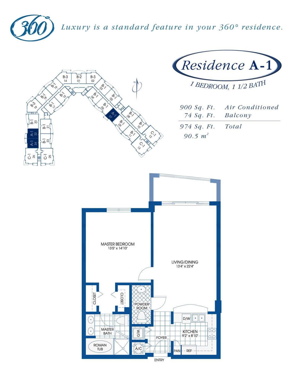 Floor Plan for Unit 524